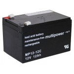 Multipower MP12-12C 12V 12Ah 6.3mm faston