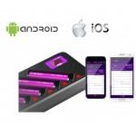 Efest LUC Blu4 polnilnik z aplikacijo za pametne telefone