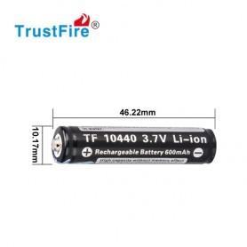 Trustfire 10440 3.7V 600 mAh Li-Ion baterija