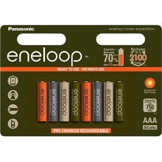"eneloop AAA 8-blister ""tones expedition"" serija 800 mAh"