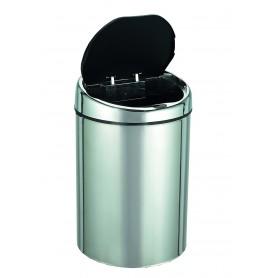 Mini 4L senzorski koš za odpadke, srebrne barve