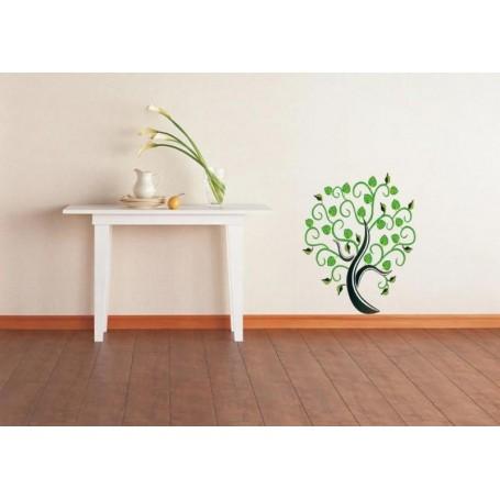 Stenska nalepka Moderno zeleno drevo