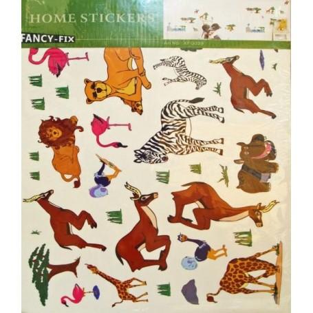 Stenska nalepka Tropske živali