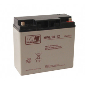 12V 20Ah AGM akumulator MWL 20-12