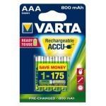 Varta Ready2Use AAA Micro Ni-MH 1,2V / 800mAh (4 blister)