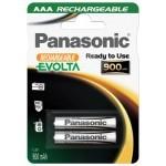 Panasonic Evolta AAA Ready to Use Micro Ni-MH 1,2V / 900mAh (2 blister)
