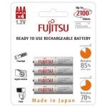 Fujitsu Micro AAA HR4UTC white Ni-MH 1,2V / 800mAh (4 blister)