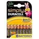Duracell AAA 1.5V MN2400 Simply 8 kos
