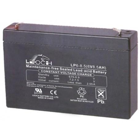 Leoch 6V 8.5Ah PB AGM akumulator