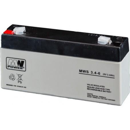 6V 3.4Ah AGM akumulator MWS 3.4-6