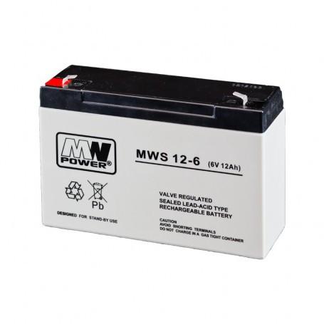 6V 12Ah AGM akumulator MWS 12-6