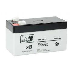 12V 1.3Ah AGM akumulator MWS 1.3-12