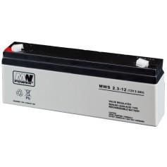 12V 2.3 Ah AGM akumulator MWS 2.3-12