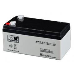 12V 3.4Ah AGM akumulator MWS 3.4-12