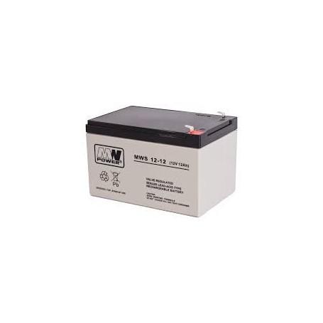 12V 12Ah AGM akumulator MWS 12-12