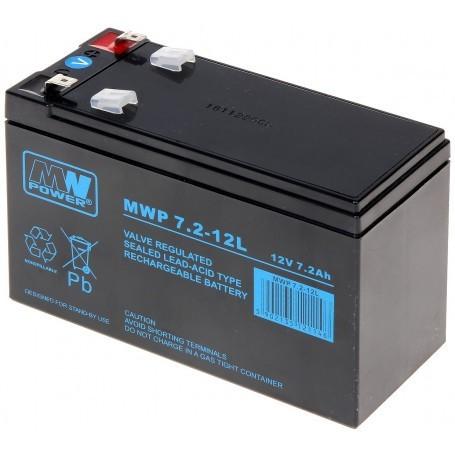 12V 7.2Ah AGM CIKLIČNI akumulator MWP 7,2-12L