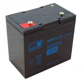 12V 55Ah CIKLIČNI AGM akumulator MWP 55-12