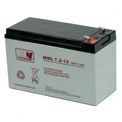 12V 7.2Ah AGM LONG LIFE akumulator MWL 7,2-12L