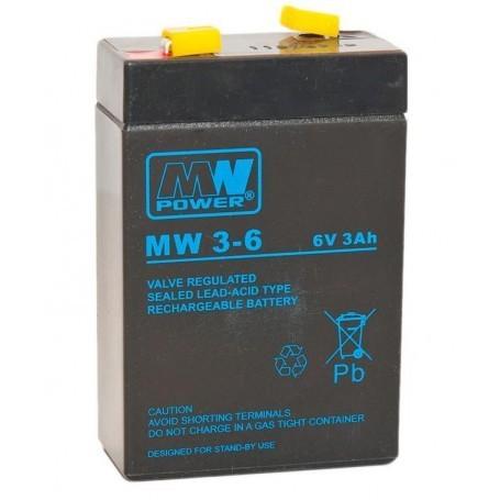 6V 3Ah AGM akumulator MW 3-6