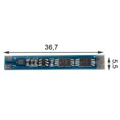 1S PCB BMS zaščita V1 36.7mm x 5.5mm