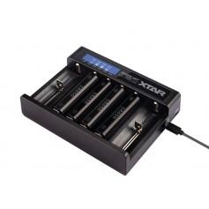 Xtar MC6 6-kanalni USB polnilnik Li-Ion baterij