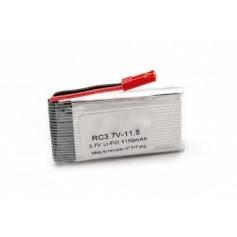 Baterija za helikopter, JST, Li-Po, 1150 mAh, 3.7V