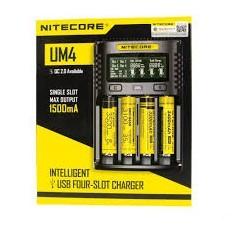 NiteCore UM4 QC 2.0 polnilnik Li-Ion baterij