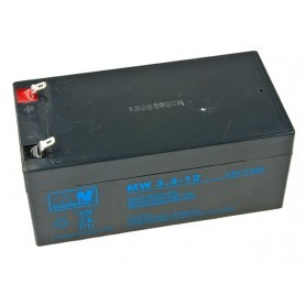 12V 3.4Ah AGM akumulator MW 3.4-12