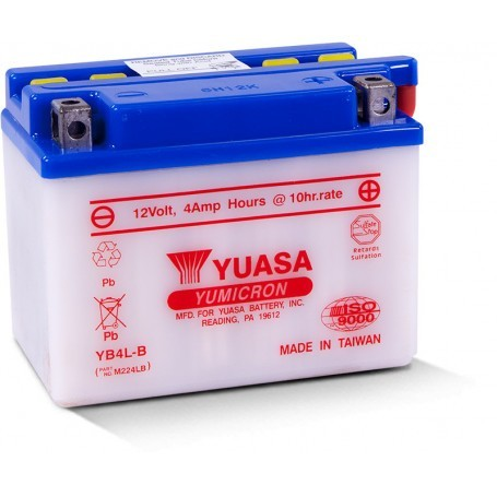 Yuasa YB4L-B 12V 4Ah moto akumulator