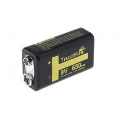 Trustfire 9V 6LR61 650 mAh Li-Polymer baterija
