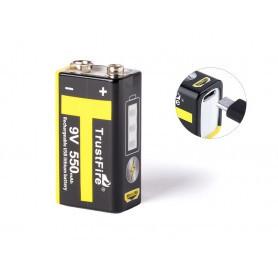 Trustfire 9V 6LR61 USB (7.4V) 550 mAh Li-Polymer baterija
