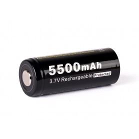 26650 3.7V 5500 mAh Li-Ion baterija s PCB zaščito Soshine