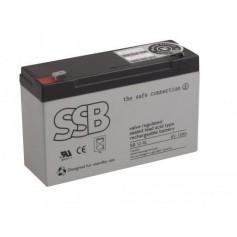 6V 12Ah AGM akumulator SB 12-6