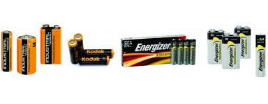 Batterie alcaline -  imballaggi industriali