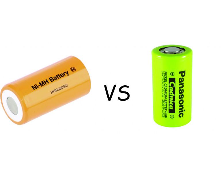 Razlike med NiMh in NiCd baterijami. Prednosti in slabosti.